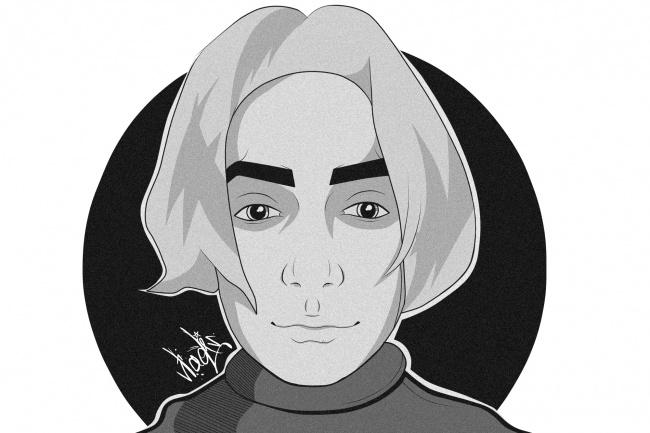Нарисую портрет в стиле Black Art 1 - kwork.ru