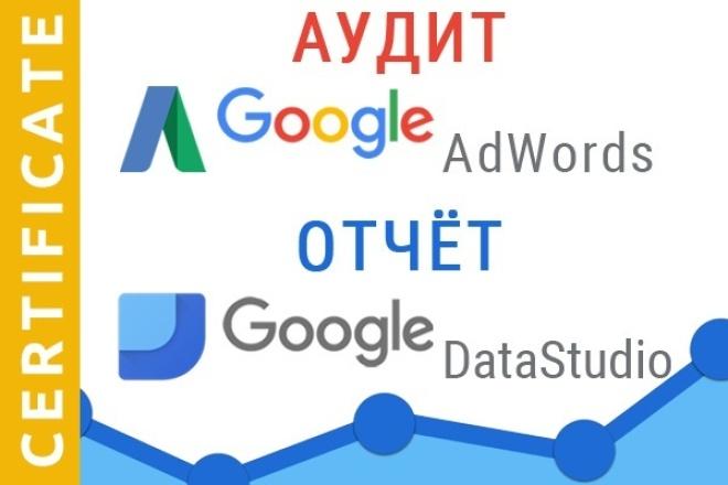 Аудит рекламной кампании Google Adwords и отчёт в Google DataStudio 1 - kwork.ru