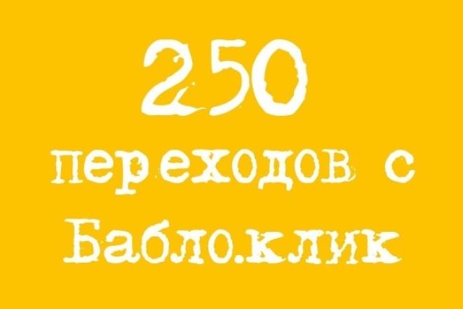 Проведу рекламную кампанию на сервисе Бабло.клик и приведу 250 человек 1 - kwork.ru