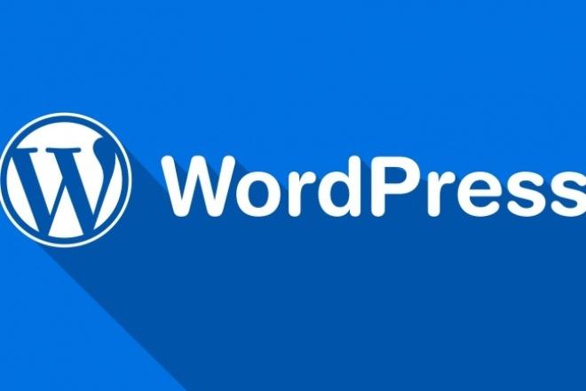 установлю и настрою сайт на Wordpress + 2 месяца хостинга в подарок 1 - kwork.ru