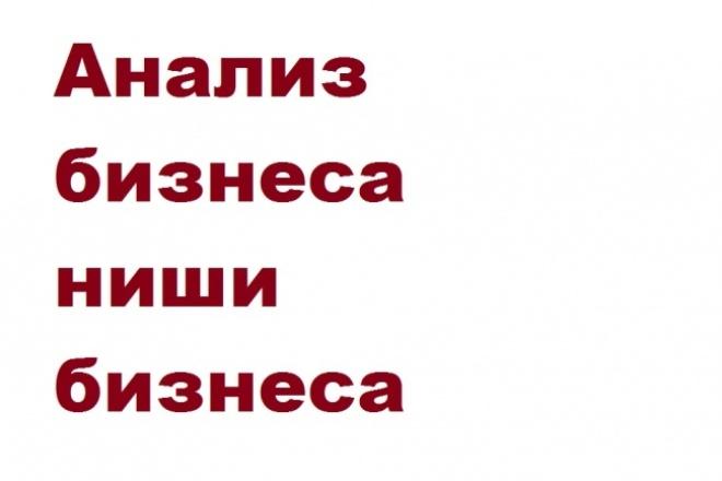 Анализ сектора бизнеса,ниши бизнеса 1 - kwork.ru
