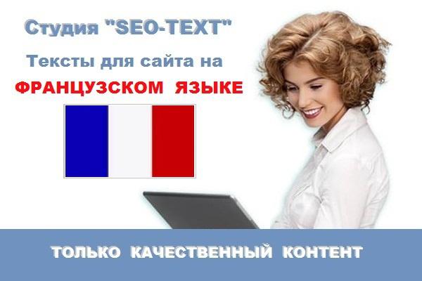 Текст для сайта на Французском языке 1 - kwork.ru