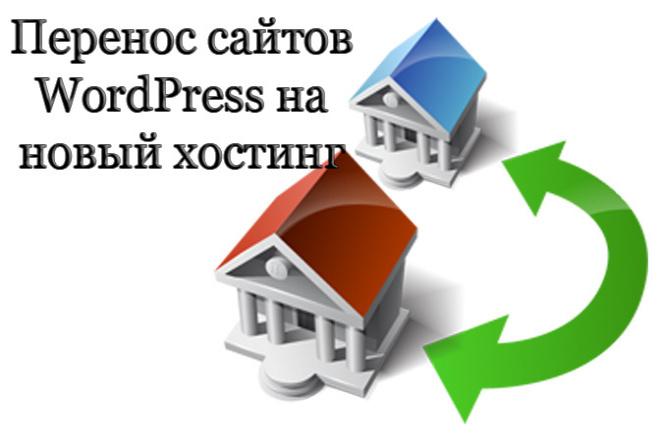Перенос сайтов WordPress на новый хостинг 1 - kwork.ru