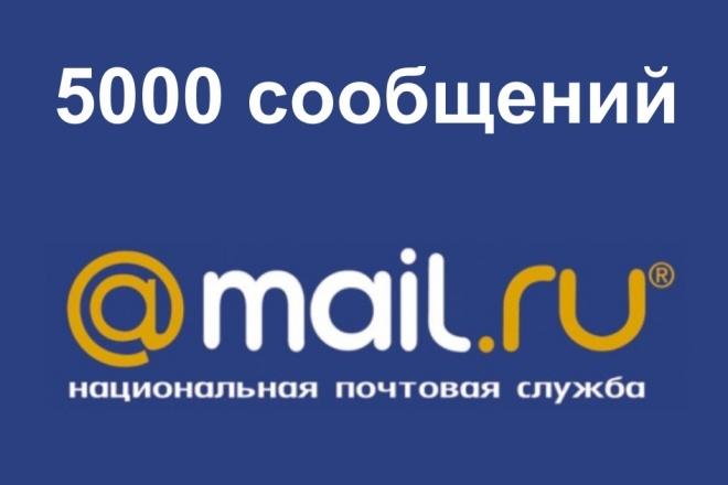 Рассылка на 5000 почтовых адресов mail. ru, 100% inbox 1 - kwork.ru