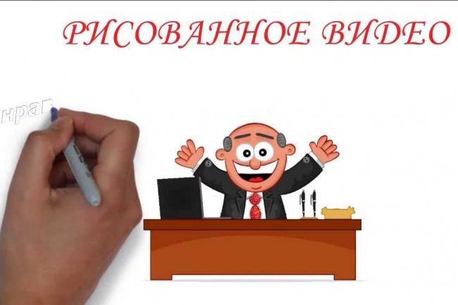 видеоролик рисованного видео 1 - kwork.ru