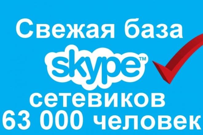 Скайпы сетевиков 63 000 человек 1 - kwork.ru