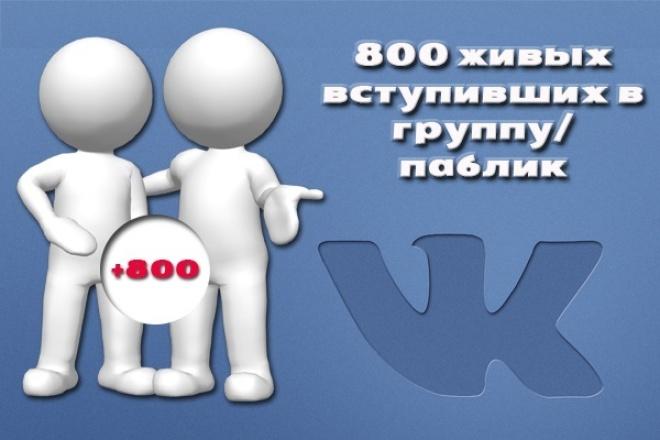 800 живых(офферов) в группу/паблик ВК 1 - kwork.ru