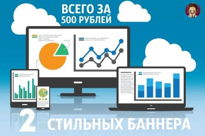 Сделаю 2 баннера для сайта 1 - kwork.ru