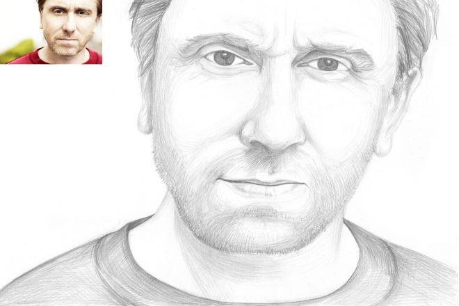 Нарисую портрет карандашом по фото 1 - kwork.ru