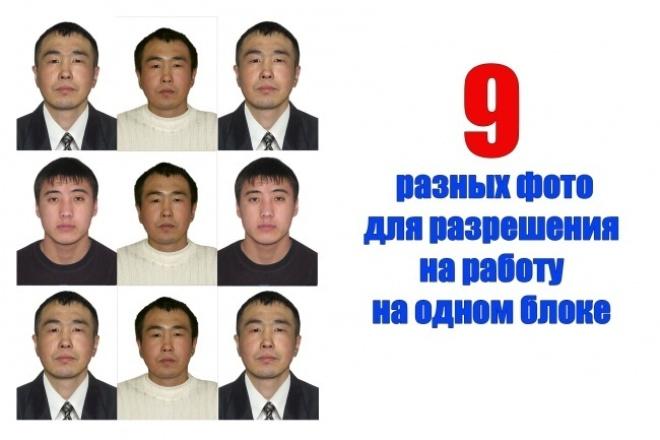Обработаю фото на загранпаспорт для госуслуг - 4 штуки 1 - kwork.ru