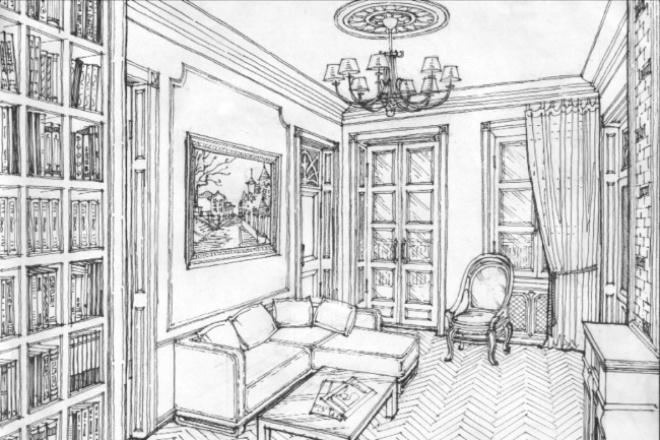Графический неповторимый авторский рисунок 1 - kwork.ru