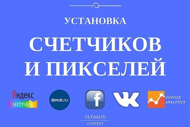 Установка счетчиков и пикселей 1 - kwork.ru