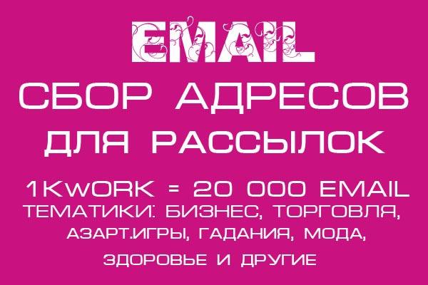 Соберу email для рассылок под вашу целевую аудиторию 1 - kwork.ru