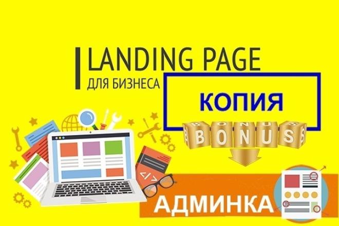 Копия любого landing page, одностраничного сайта, html 1 - kwork.ru