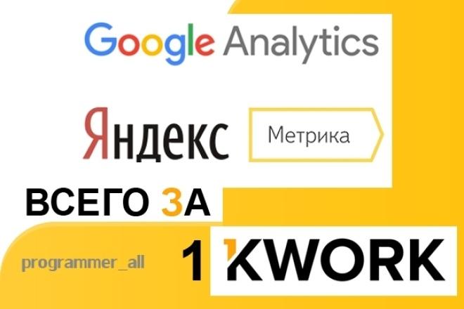 Настрою Яндекс Метрику и Google Analytics 1 - kwork.ru