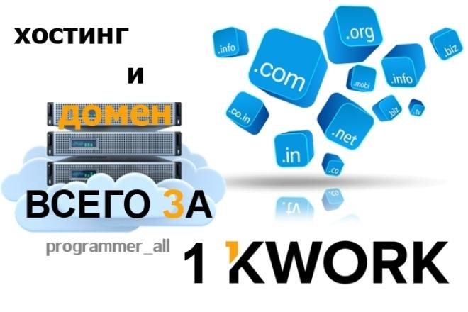 Помогу с доменом и хостингом 1 - kwork.ru