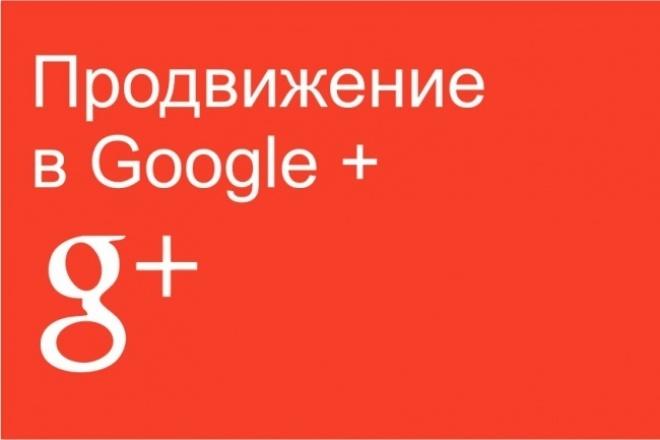 Реклама вашего объявления(ссылки+изображение) в 30 группах в GOOGLE+ 1 - kwork.ru