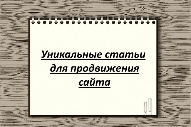 Напишу уникальные статьи для продвижения сайта 1 - kwork.ru
