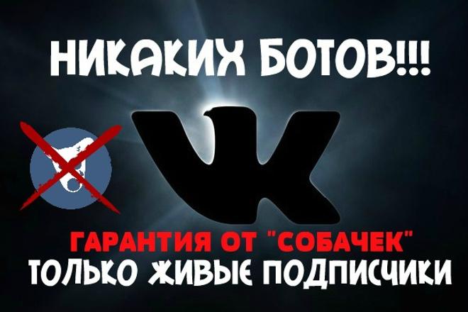 Подписчики в группу VK 1 - kwork.ru