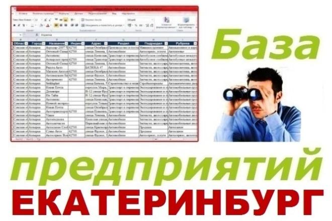 База предприятий Екатеринбурга 1 - kwork.ru