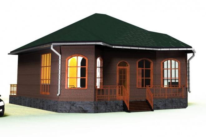 сделаю 3D модель, рендер, визуализацию 1 - kwork.ru