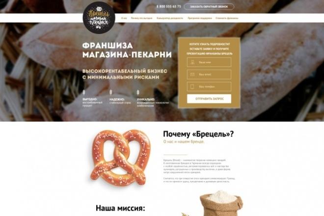 дизайн одного экрана сайта 1 - kwork.ru