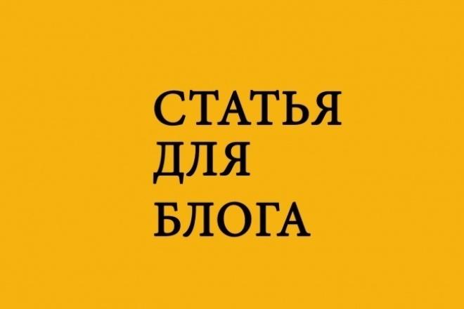 Напишу статью для блога 1 - kwork.ru