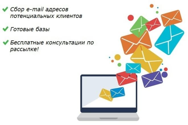 Соберём базу e-mail адресов потенциальных клиентов + готовые базыИнформационные базы<br>Профессионально занимаемся сбором e-mail адресов потенциальных клиентов из поисковой выдачи Яндекс и Google, а также на всевозможных тематических порталах, блогах, сайтах-объявлений, каталогах и т.п. Сбор осуществляется только из открытых источников. Работаем с любыми тематикам и ключевыми запросами. Собранную выборку, в дальнейшем, можно использовать в качестве e-mail маркетинга (к примеру, через сервис Unisender.ru). За время работы к нам обращались как физические лица и представители малого бизнеса, так и крупные компании (к примеру, одно из книжных издательств). Есть положительные отзывы о нашей работе! За 500 руб. соберём базу из не менее 1000 электронных адресов (в стоимость входит непосредственно сбор базы, а также дальнейшая ручная проверка на наличие дублей, ошибок и т.д.). При превышении объёма 1500-2000 e-mail адресов - 0,5 руб./шт. Также, за 500 руб./шт. можем предложить уже готовые (ранее собранные) базы e-mail адресов из открытых источников: 0) База e-mail адресов ресторанов, кафе и баров Москвы; 1) База e-mail адресов архитектурных бюро и дизайнерских агентств Москвы; 2) База e-mail адресов агентств недвижимости Москвы (Новостройки + Зарубежная); 3) База e-mail адресов бухгалтерских агентств Москвы; 4) База e-mail адресов юридических агентств Москвы; 5) База e-mail адресов директоров по продажам, коммерческих директоров, HR-директоров, менеджеров по продажам и менеджеров клиентских отделов; 6) База e-mail адресов соискателей (собиралась по запросам: «ищу работу», «найду работу» и т.д.); 7) База e-mail адресов жителей Подольска; 8) База e-mail адресов жителей Щербинки; 9) База e-mail адресов жителей Климовска; 10) База e-mail адресов жителей Домодедово; 11) База e-mail адресов жителей Чехова; 12) База e-mail адресов жителей Серпухова; 13) База e-mail адресов военнослужащих России; 14) База e-mail адресов автосалонов Москвы и Московской области; 15) База e-mail адрес