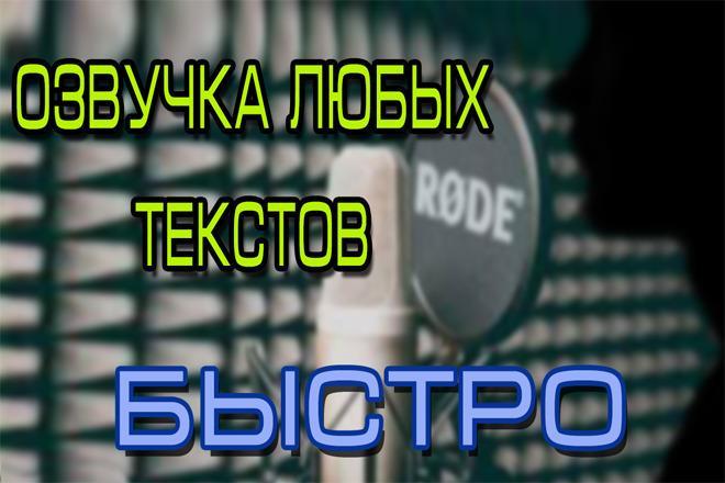 Озвучу любой текст 1 - kwork.ru