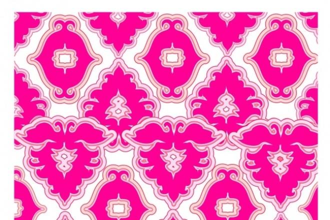 Создам векторный принт для ткани, домашнего текстиля, одеждыГрафический дизайн<br>Создам векторный принт для ткани ,одежды,орнамент в любом стиле в соответствии с Вашими пожеланиями.<br>