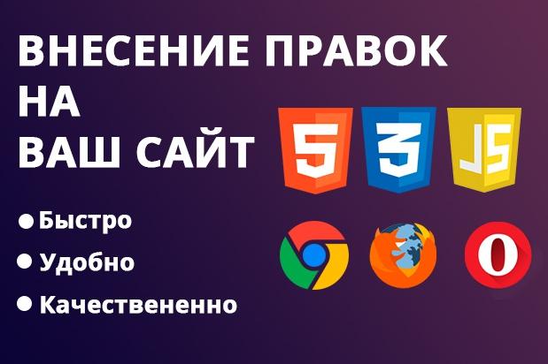 Внесу правки на сайт 1 - kwork.ru