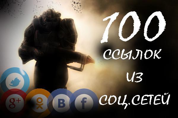 100 ссылок из социальных сетей 1 - kwork.ru