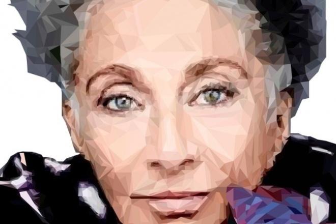 Портрет в полигональном стиле 1 - kwork.ru