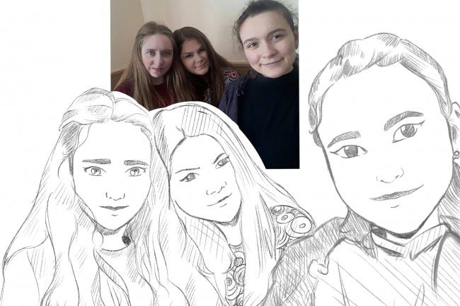 Нарисую портрет с фото в стиле ВК 1 - kwork.ru