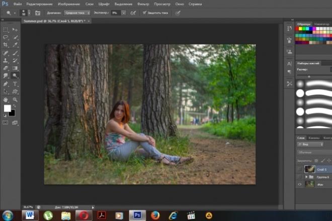 Обработка летних фотографиОбработка изображений<br>Максимально качественные обработки фото, вы останетесь довольным за работу, не пожелеете свои деньги.<br>