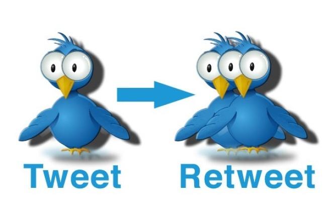 Комплексная прокачка твиттер аккаунта 1000 подписчиков, 1000 реттвитовПродвижение в социальных сетях<br>Сделаю комплексную прокачку вашего твиттер-аккаунта. Добавлю 1000 очень качественных подписчиков, с заполненными аватарами, шапками и т.д + сделаю 1000 ретвитов ваших твитов, это могут быть ретвитты как уже написанных вами твитов, так и последовательный ретвиттинг новых твитов. Результат от заказа: Ваш аккаунт будет в топе, видимость для поисковых систем и новые подписчики. Участники могут постепенно отписываться (живые люди) но не более 10% от общего количества.<br>