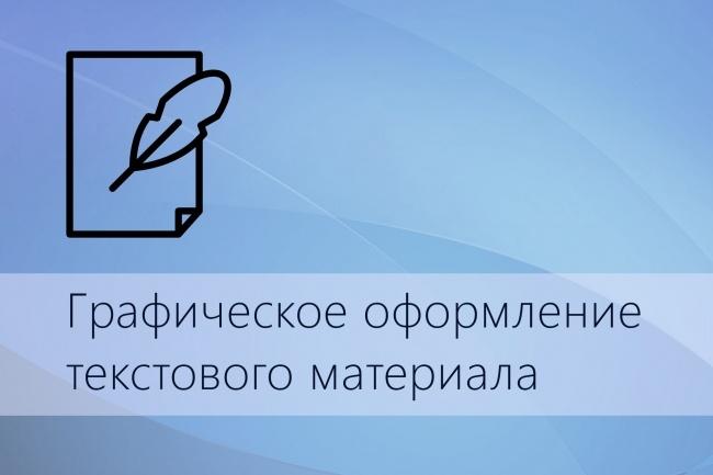Графическое оформление текстового материала 1 - kwork.ru