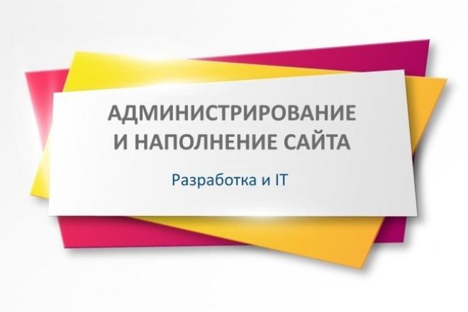 Администрирование и наполнение сайта 1 - kwork.ru