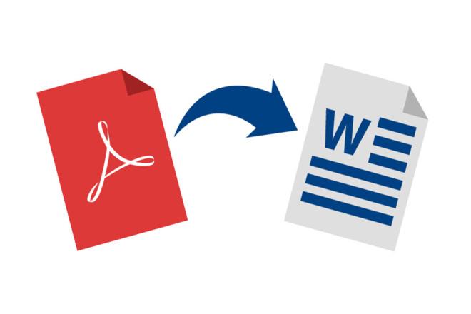 Конвертация текста из Word в PDF и обратно 19 - kwork.ru