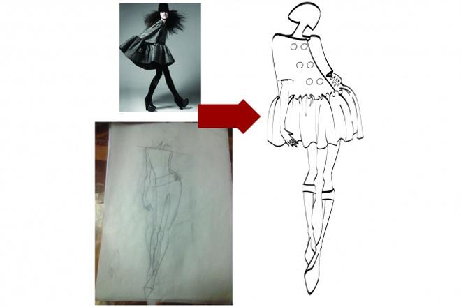 одену вашу модельГрафический дизайн<br>За день-два отрисую предоставленный вами эскиз фигуры человека или нарисую свой собственный и надену на нарисованную девушку одежду с технического эскиза, фотосессии, рекламного снимка или видео.<br>