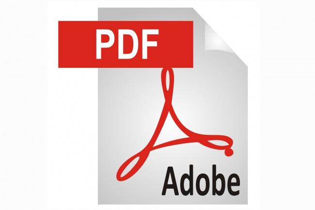 Работа с PDF форматом 1 - kwork.ru