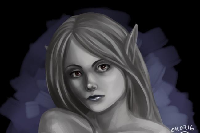 Нарисую портрет по фото в стиле реализм, сюрреализм, фэнтези, аниме 1 - kwork.ru