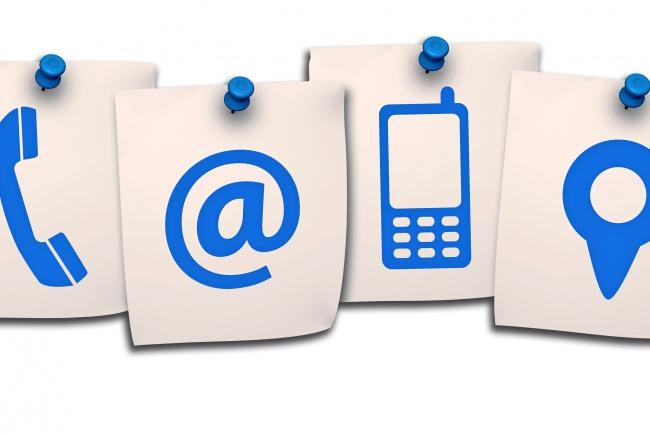 Соберу живую базу контактовE-mail маркетинг<br>Соберу живую базу контактов организаций или физических лиц. Поиск данных производится вручную из открытых источников. Кворк включает в себя базу контактов 100 организаций (наименование, телефон, сайт, адрес электронной почты, место нахождения).<br>