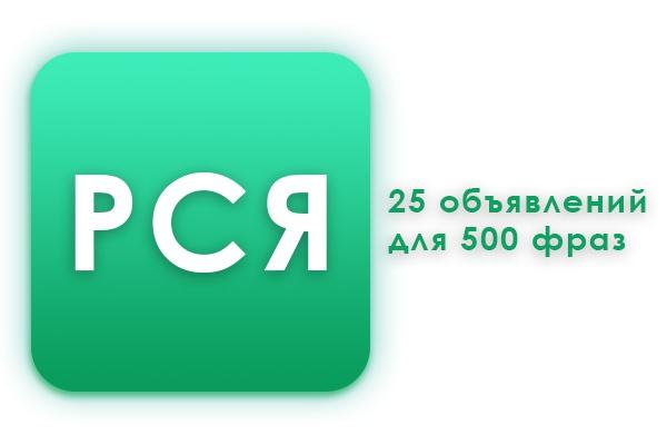 Создам рекламную кампанию в РСЯ из 500 ключевых фраз и 25 вариантов объявлений 1 - kwork.ru