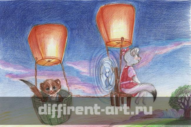 Сделаю иллюстрациюИллюстрации и рисунки<br>Создам иллюстрацию для книги, стихов и т.д. (детские, взрослые, очень взрослые) Стили: карандаш, цветной карандаш, акварель, digital-art, вектор<br>
