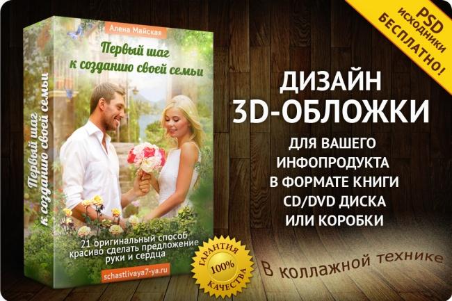 Создам 3-D обложку для любого инфопродукта - книги, CD, DVD курса 1 - kwork.ru