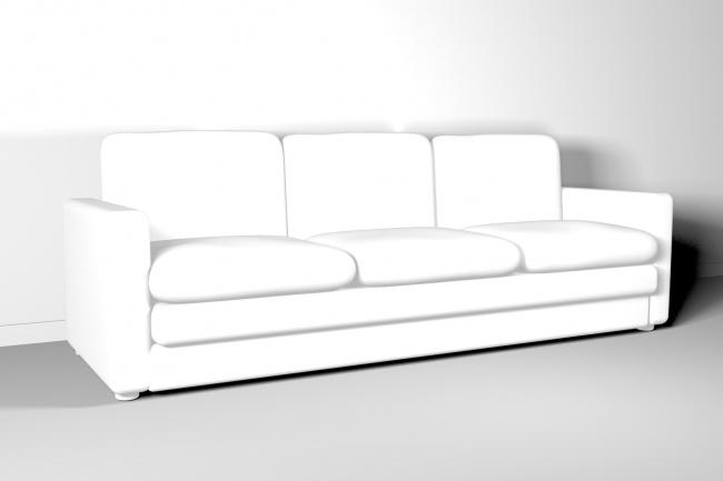 Модель мебели с визуализациейМебель и дизайн интерьера<br>Создам 3d модель корпусной или мягкой мебели по вашим требованиям. Работаю быстро, делаю качественно<br>