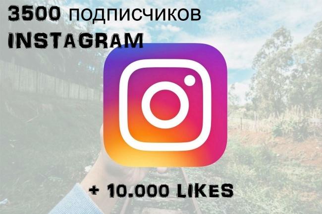 3500 подписчиков в instagram + 10000 лайков с гарантиейПродвижение в социальных сетях<br>Спасибо, что нашли мое предложение! Предлагаю 3500 подписчиков + 10000 лайков на любую публикацию (можно разбить на несколько публикаций) Можно выбрать неограниченное количество публикаций Добавление подписчиков производится таким образом, что все приобретенные подписчики остаются с Вами. Даем гарантию на заказанное количество подписчиков. Отписок менее 5%<br>