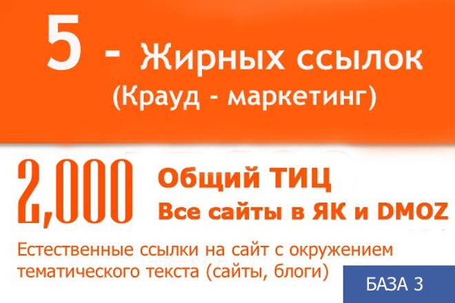 Продвижение сайта, Естественные ссылки на сайт, тиц, як, дмоз 1 - kwork.ru