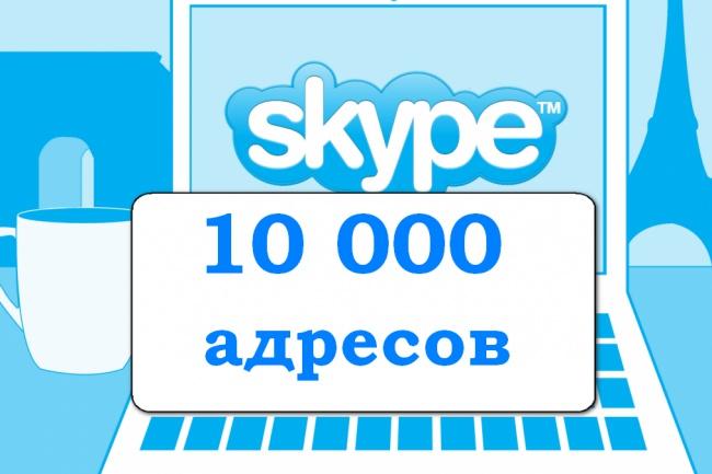 Создам базу из Skype адресов 1 - kwork.ru
